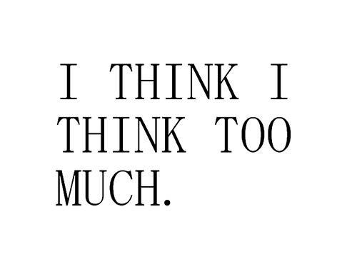Hoe vaak ik dit niet denk...